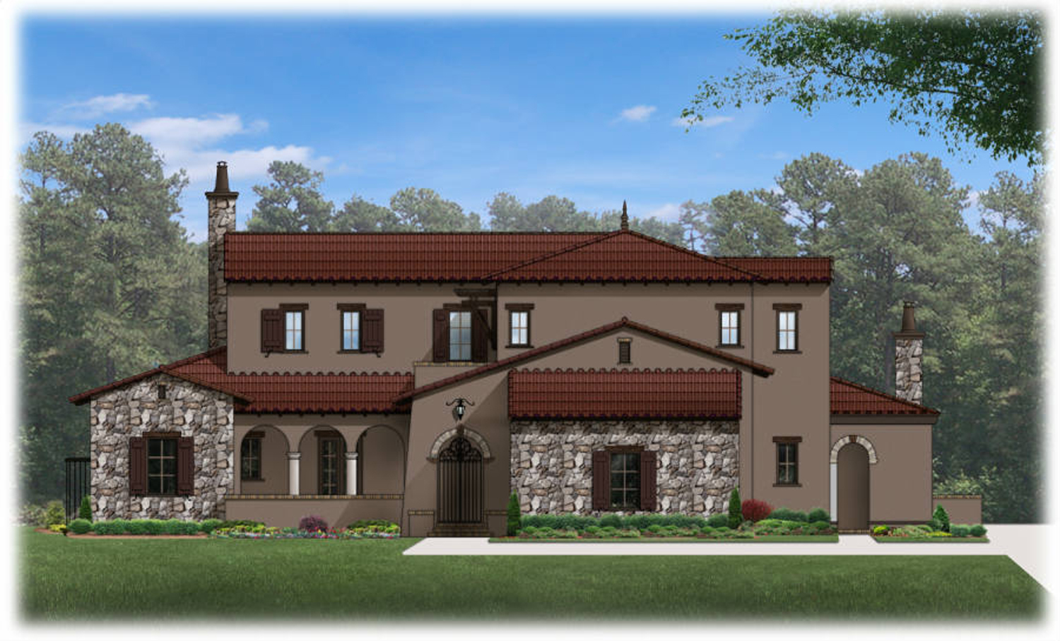 Luxurious Tuscan House Plan With Lower Level - 82075ka