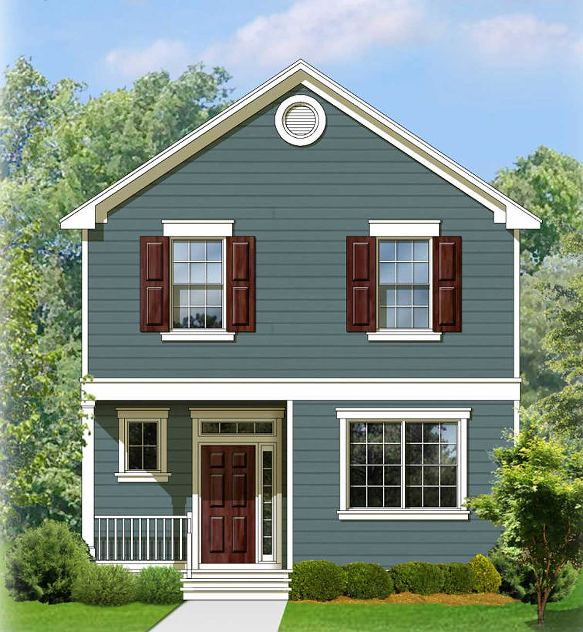 Two Story Traditional House Plan 82083ka Architectural