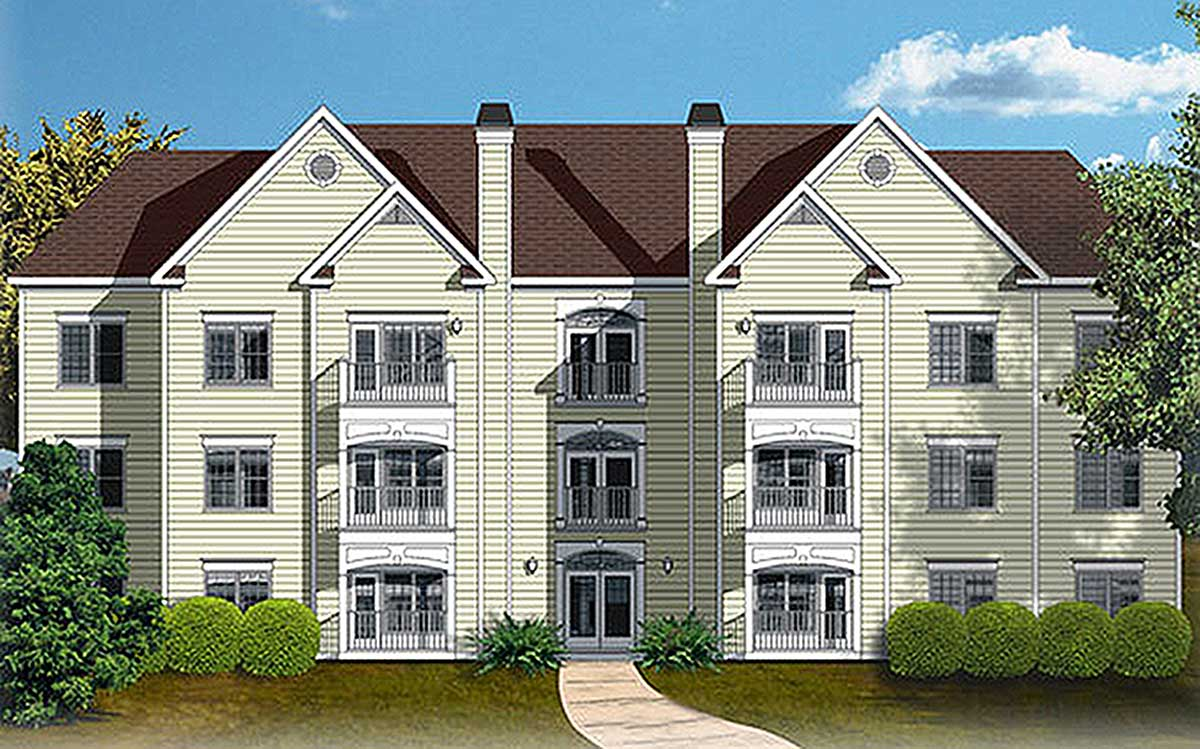 12 Unit Apartment Building Plan  83120DC  Architectural Designs  House Plans