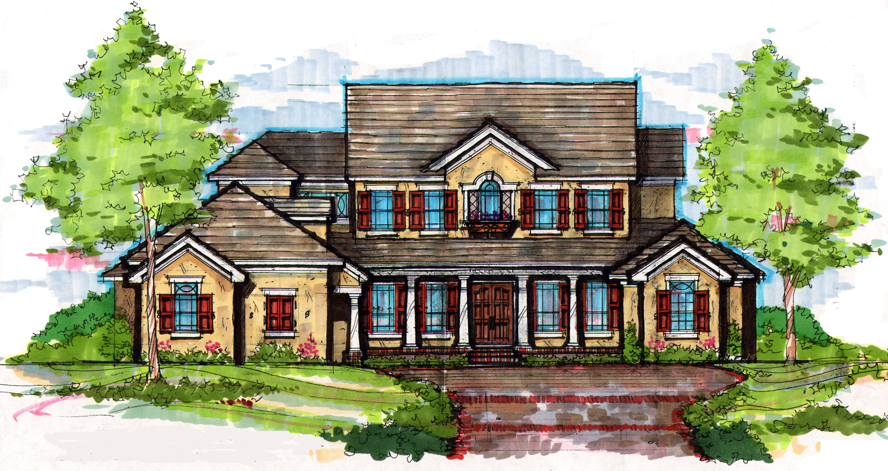Southern Colonial House Plans