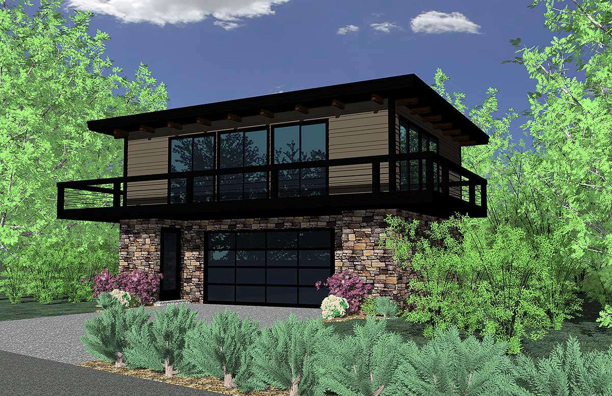 Petite Contemporary Home Plan  85019MS  Architectural