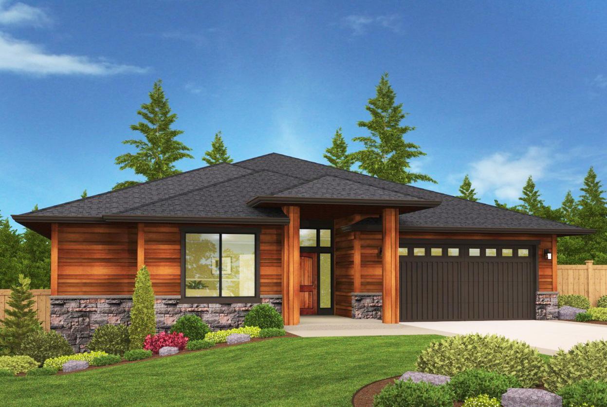Modern Prairie Style Ranch House Plans