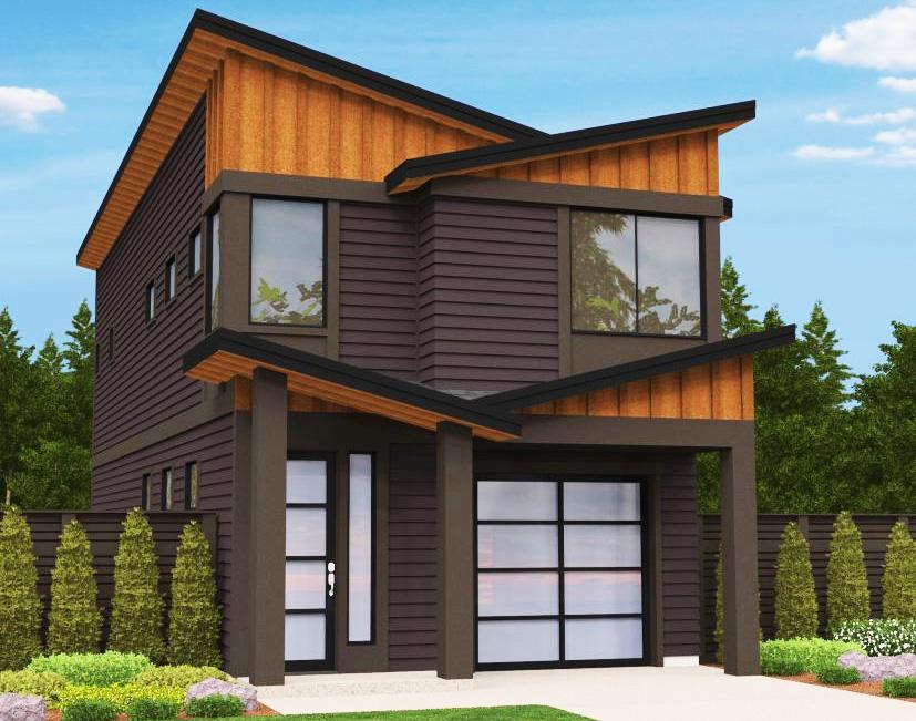 Narrow Lot Modern House Plan 85099ms Architectural