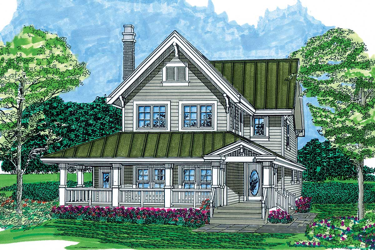 Country Charm - 88275sh Architectural Design House Plans