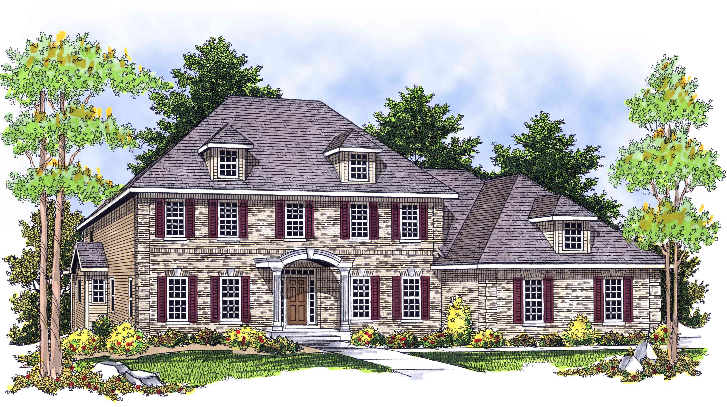 Classic 2 Story House Plans