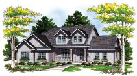 Two-Story Plan with a Side-Load Garage - 8902AH ...