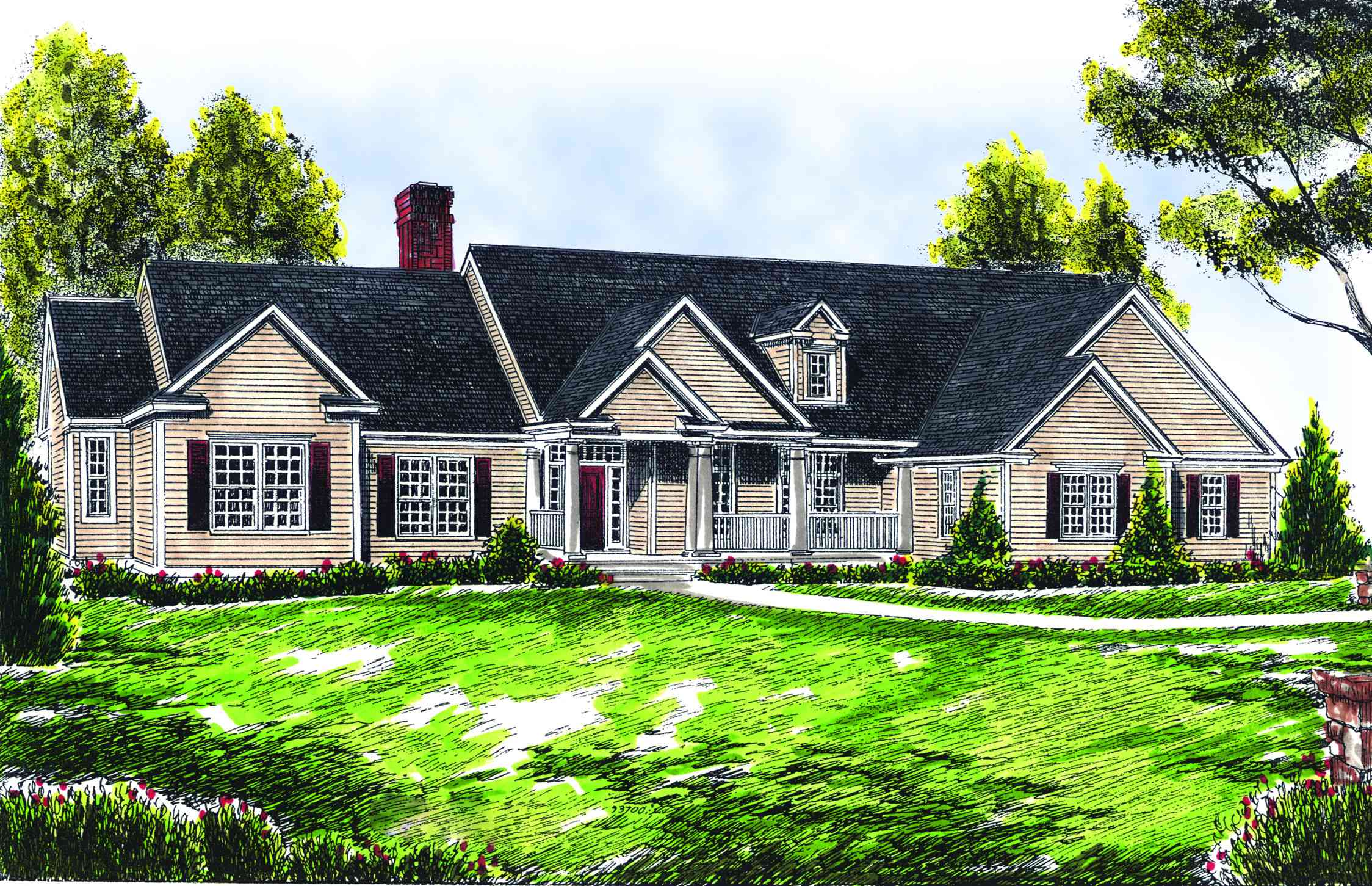 Ranch-Style Farmhouse Plan - 89119AH