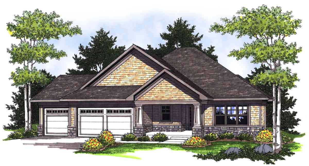 Ranch With Craftsman Style Detail 89226ah