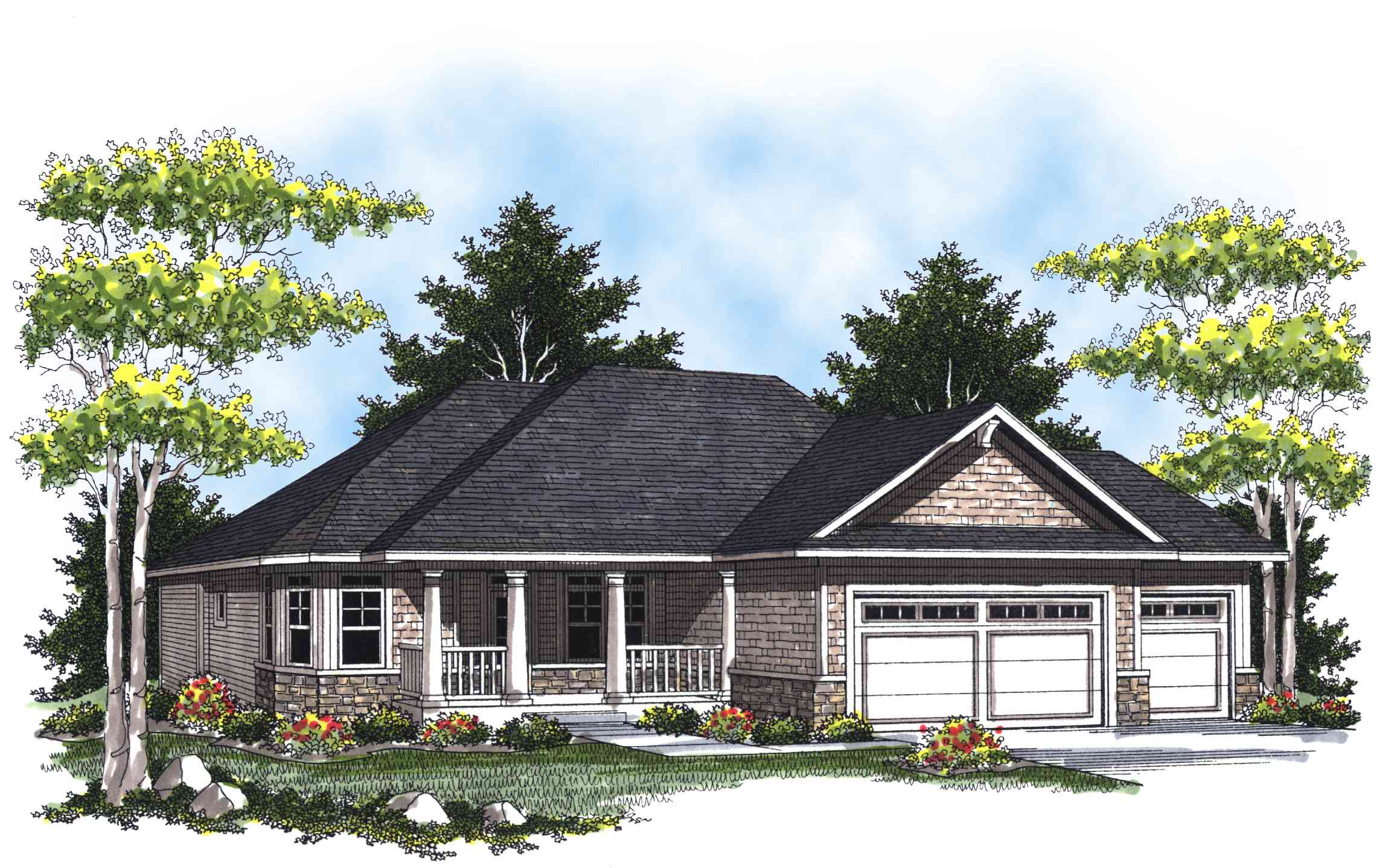 Charming Ranch Home Plan - 89263ah 1st Floor Master