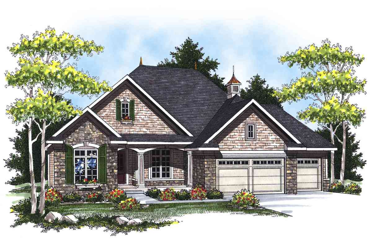 Country French Ranch Home Plan 89265ah Architectural