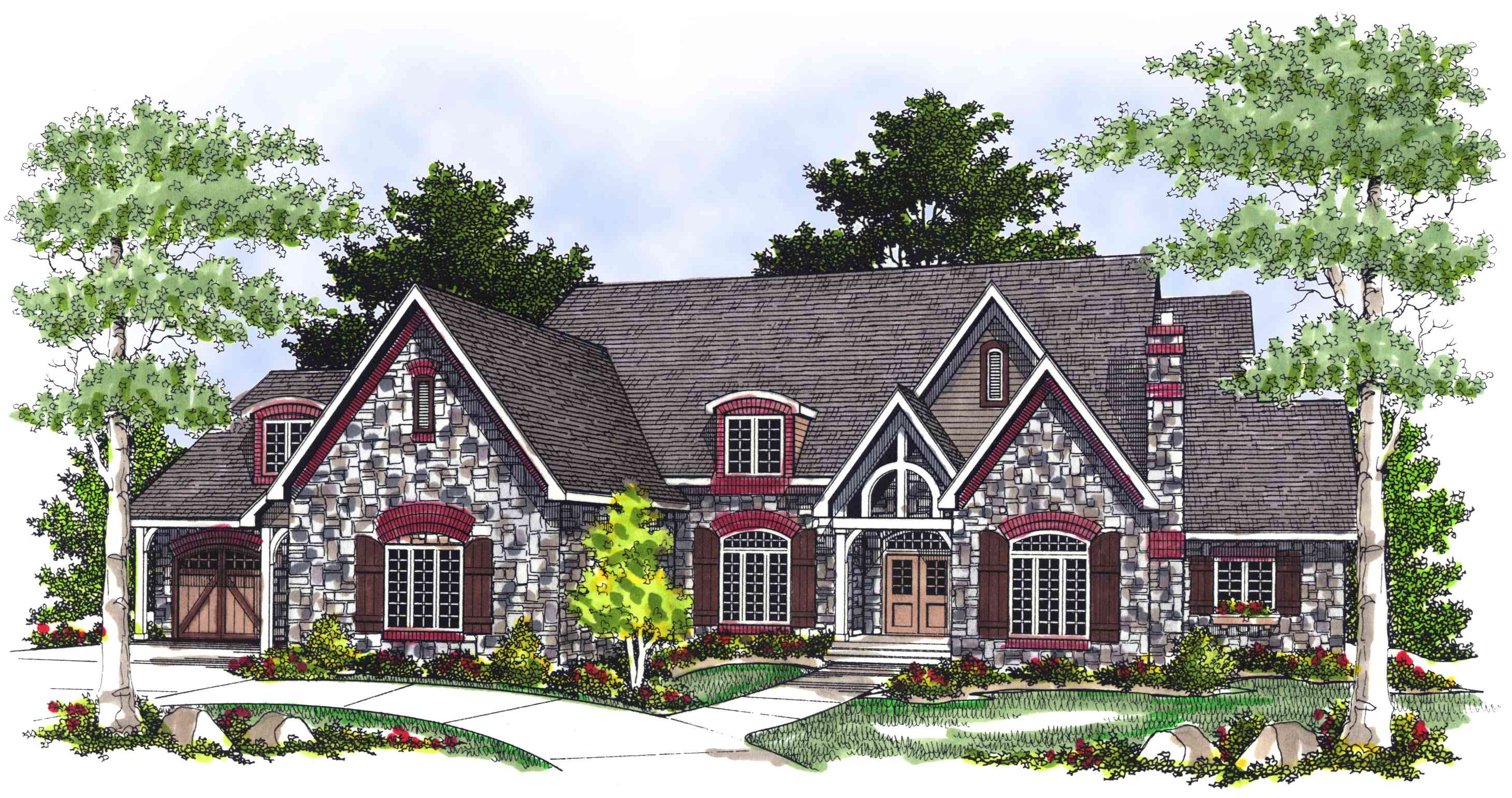 Stunning French Country House Plan - 89407ah 1st Floor