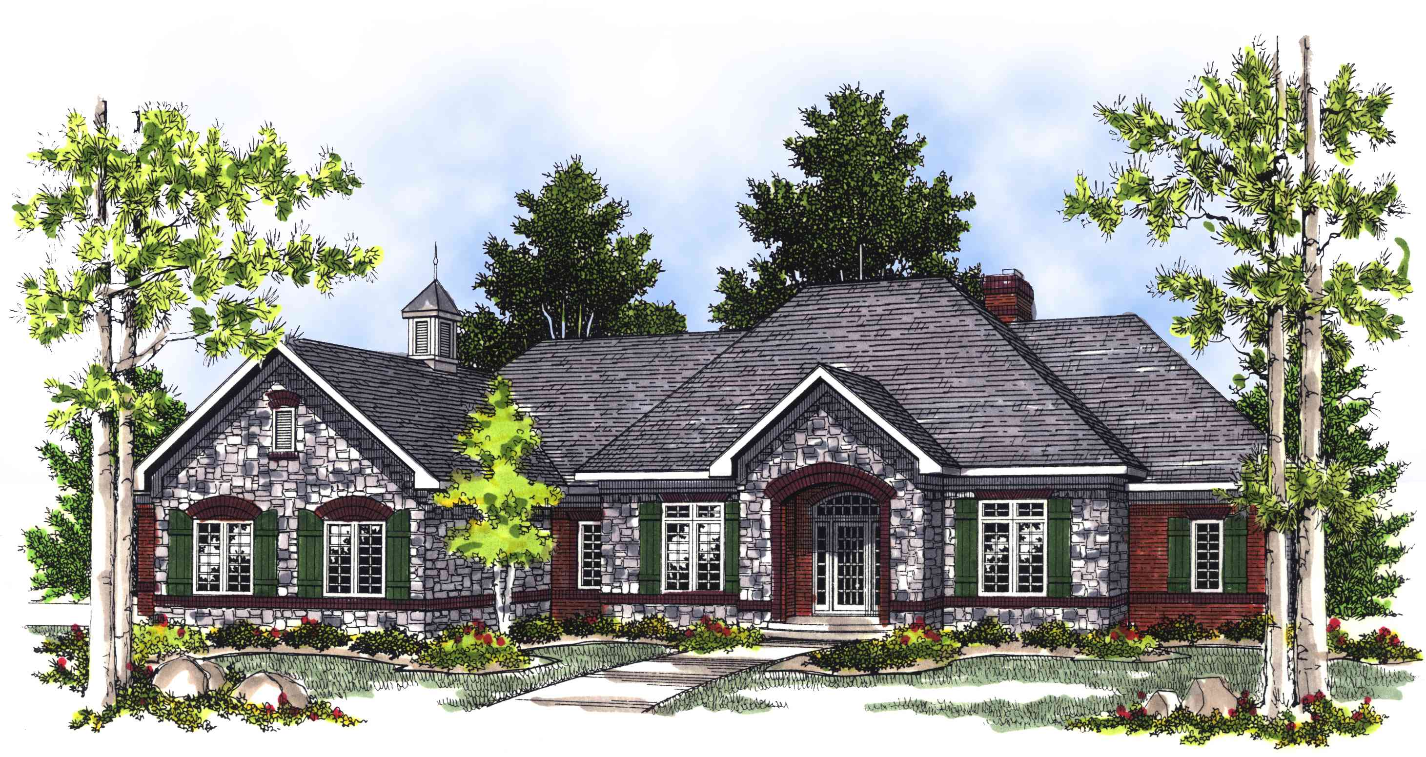 French Country Style House Plans One Story