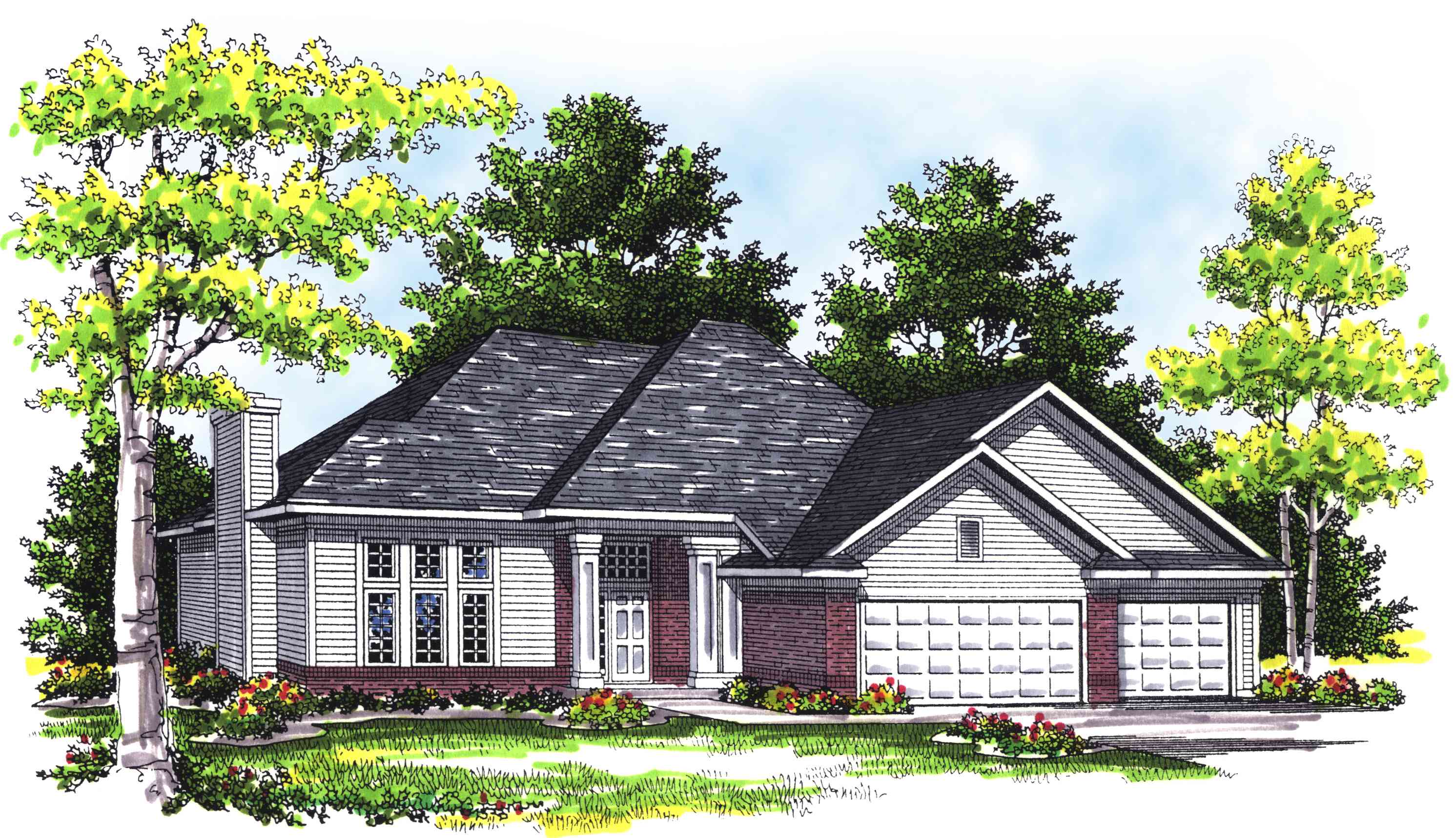 Unique Split Foyer Ranch - 89493ah Architectural Design