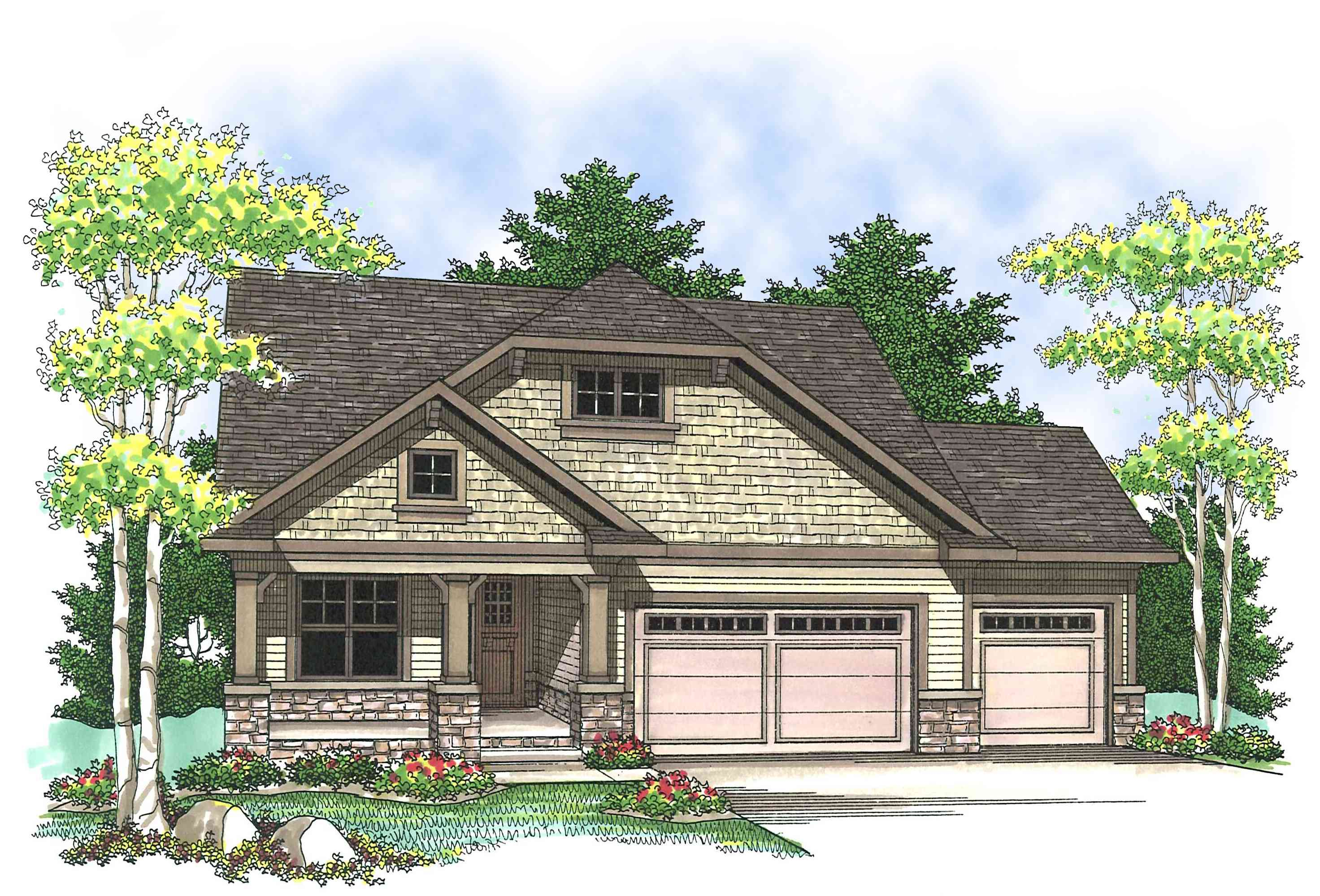 Craftsman Design With Open Floor Plan 89651ah