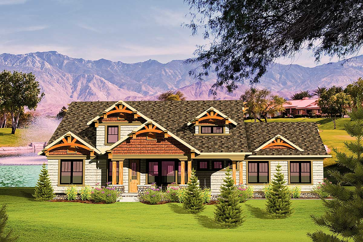 Spacious Craftsman Home Plan - 89808ah Architectural