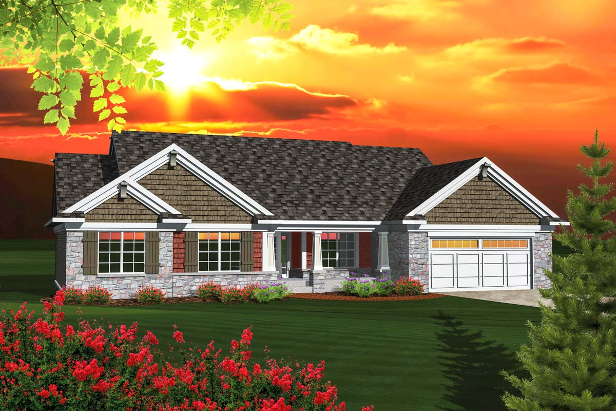 Affordable Ranch Home Plan - 89848ah Architectural