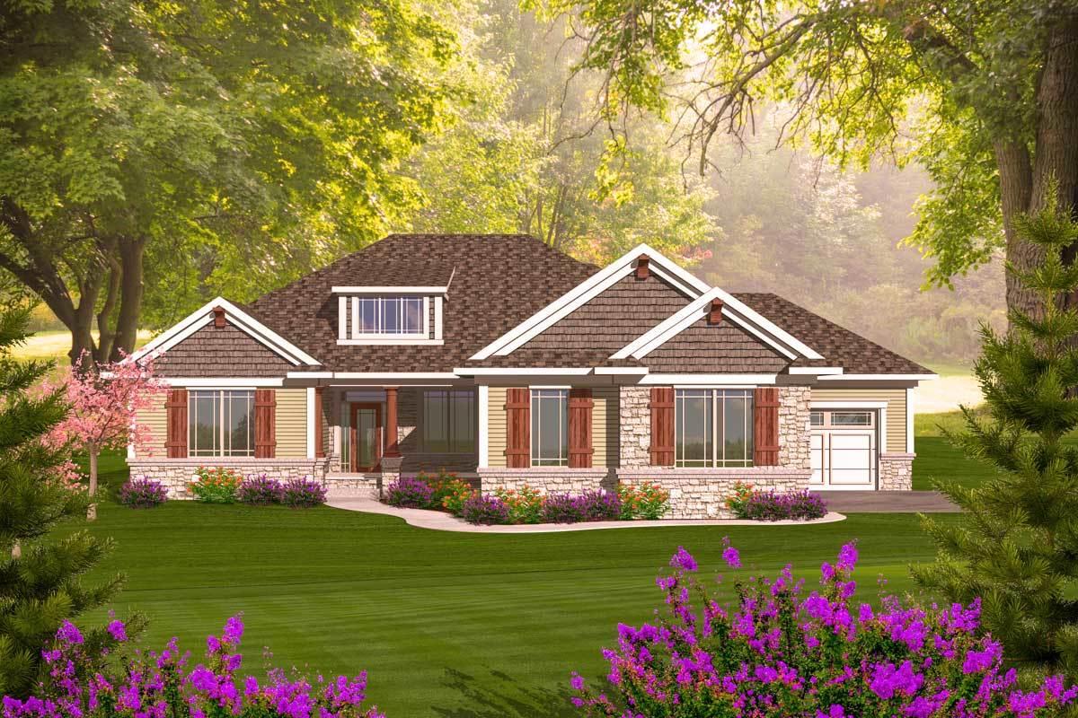 Craftsman Ranch With Walkout Basement - 89899ah