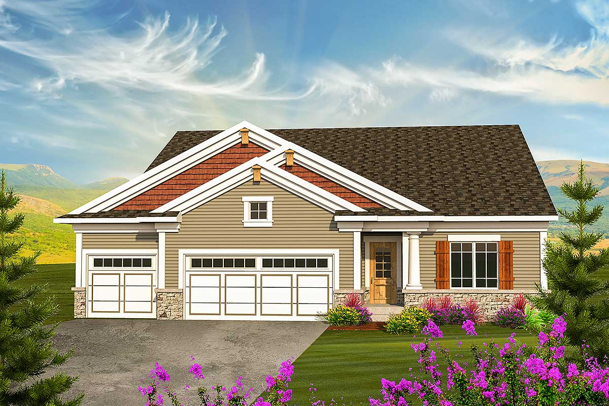 Classic Craftsman Ranch House Plan 89908ah