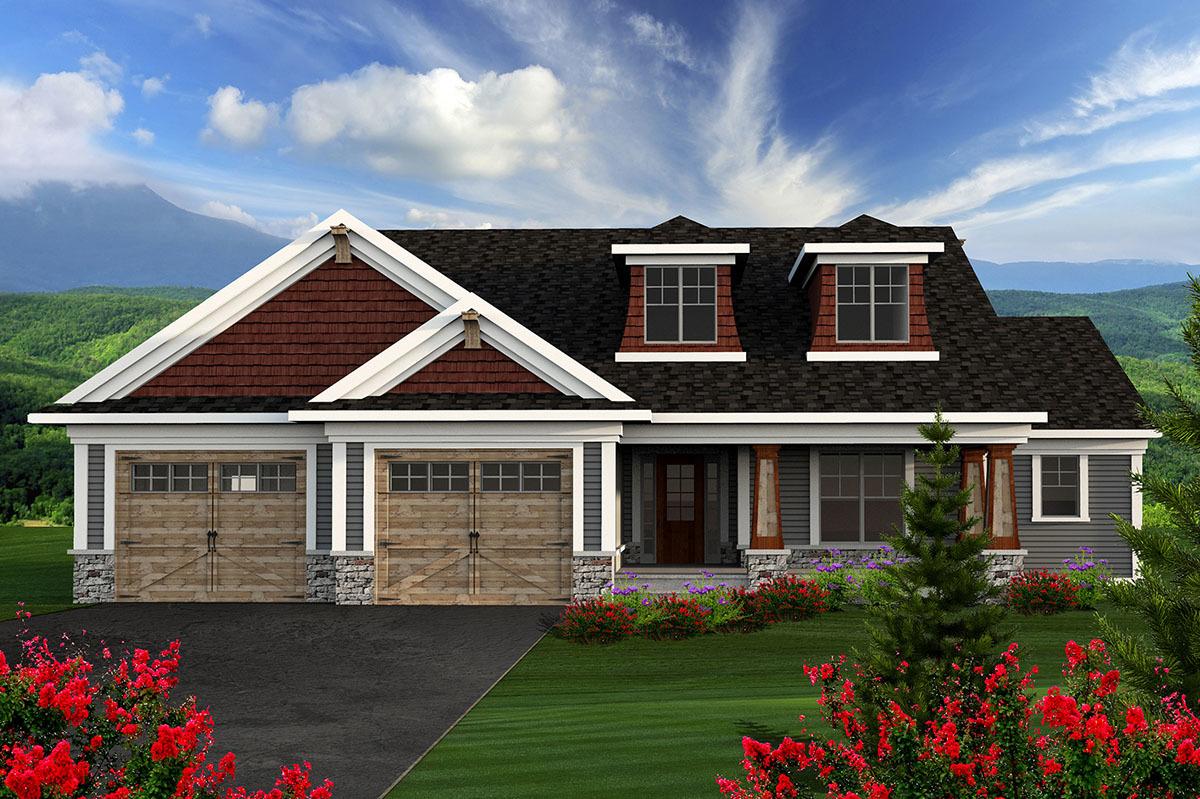 2 Bedroom Craftsman Ranch 89910ah Architectural