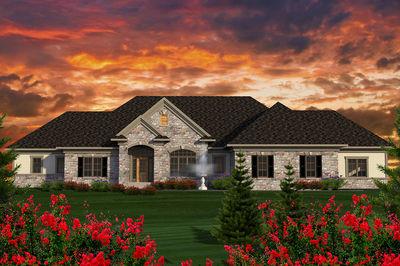 Sprawling Ranch House Plan 89923ah Architectural