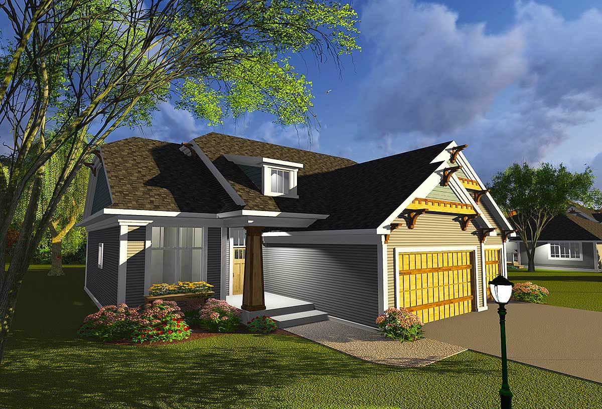 Craftsman With Open Concept Floor Plan 89987ah