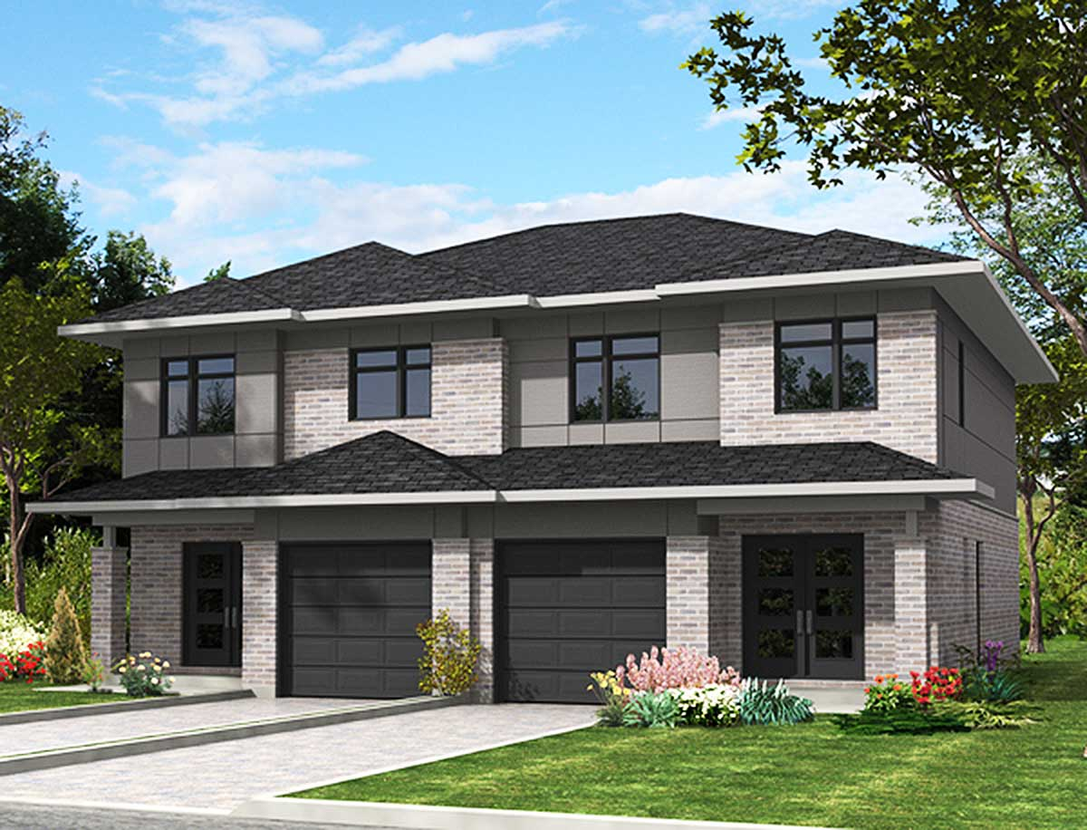 Contemporary Multi Family House Plan