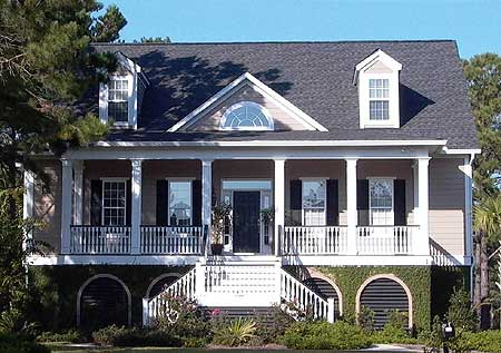 Low Country House Plan With Elevator 9140GU 1st Floor Master