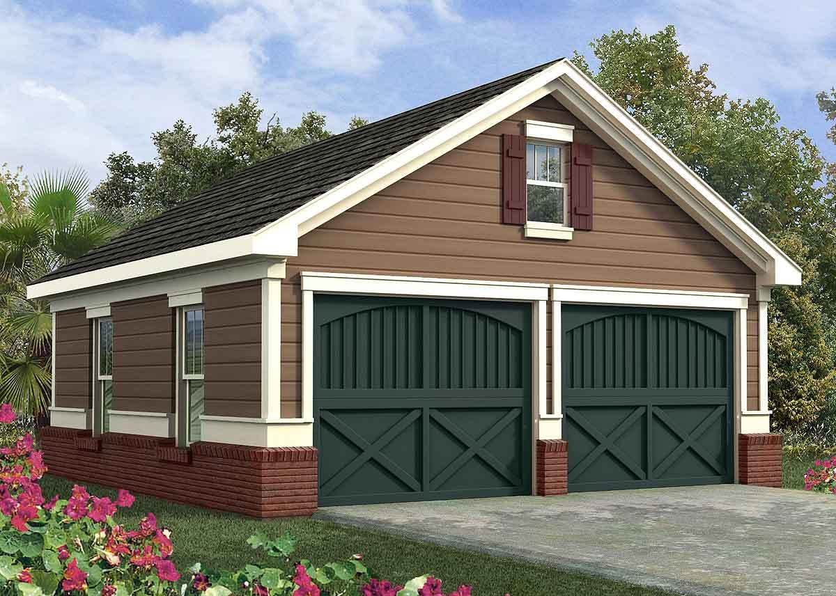 Simple Two Car Garage Plans