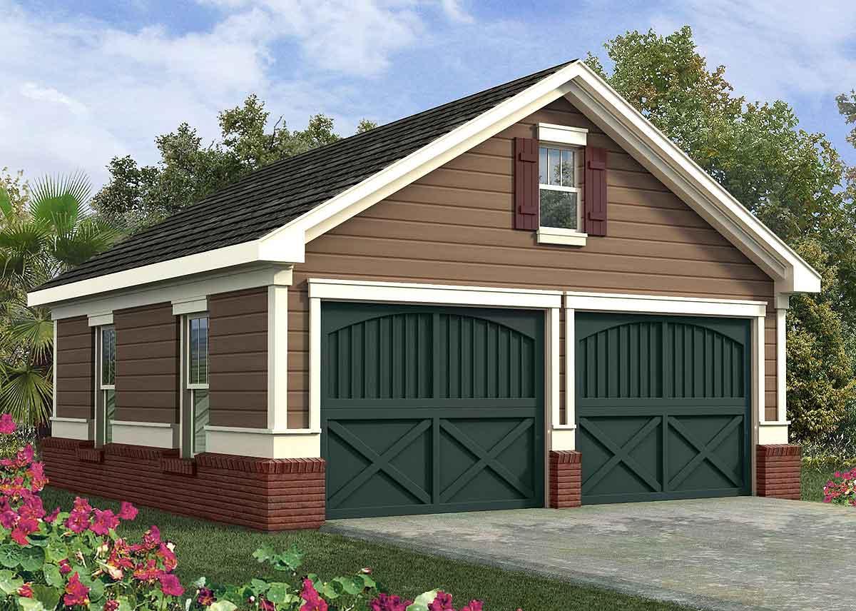 Simple Two Car Garage - 92048vs Architectural Design