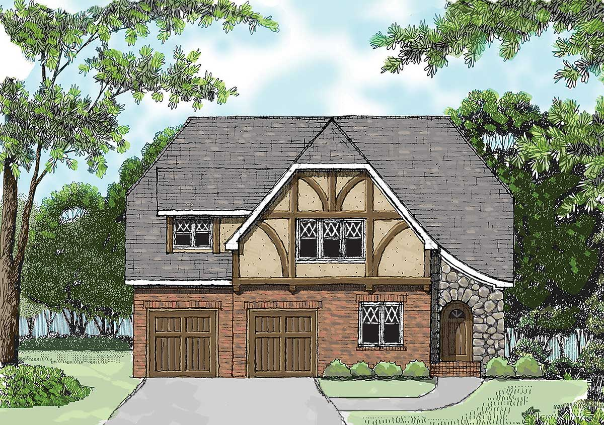 Touch Of Tudor - 9333el Architectural Design House