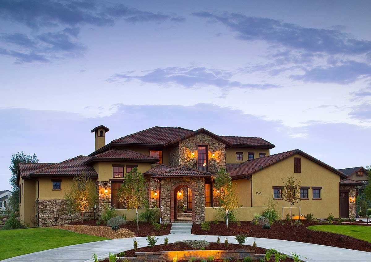 Tuscan Beauty - 9518rw Architectural Design House Plans