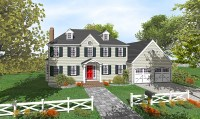 Two-Story Colonial with Open Floor Plan - 9551DM ...