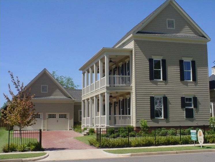 Double Decker Porch and a Detached Garage  9729AL  Architectural Designs  House Plans