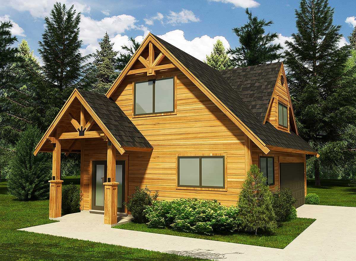 Garage With Workshop - 9817sw Architectural Design
