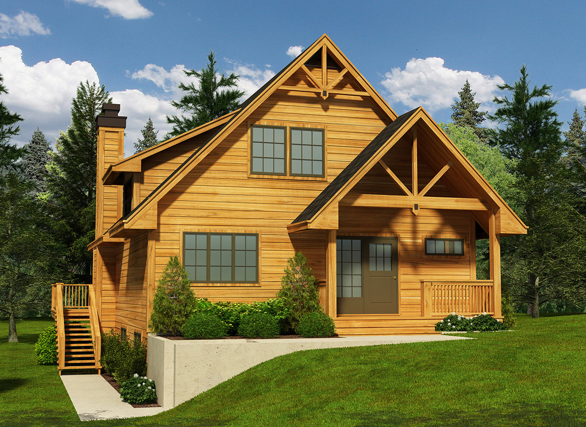 Narrow Lot Cottage House Plan 9818sw Architectural