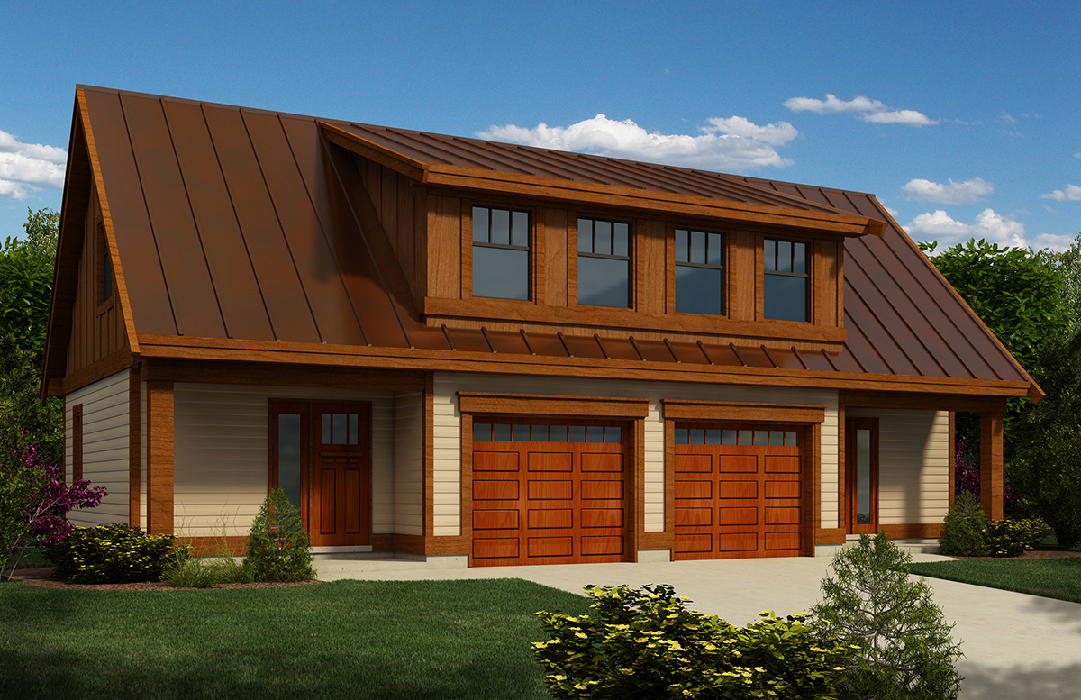 Carriage House Plan With Workshop - 9825SW
