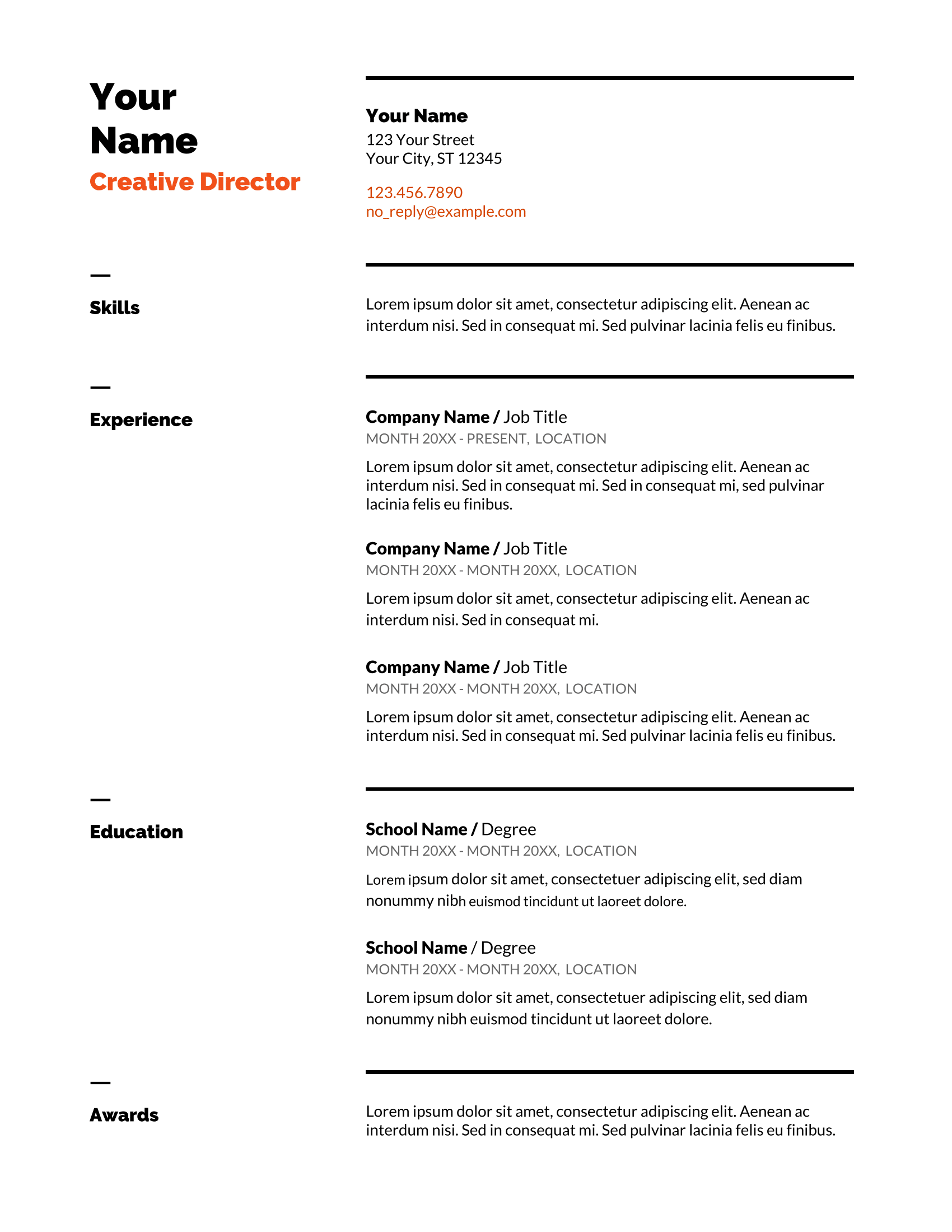 Free Resume Templates For Google Docs 2019 List Of Top 5 Google Docs Resume Templates