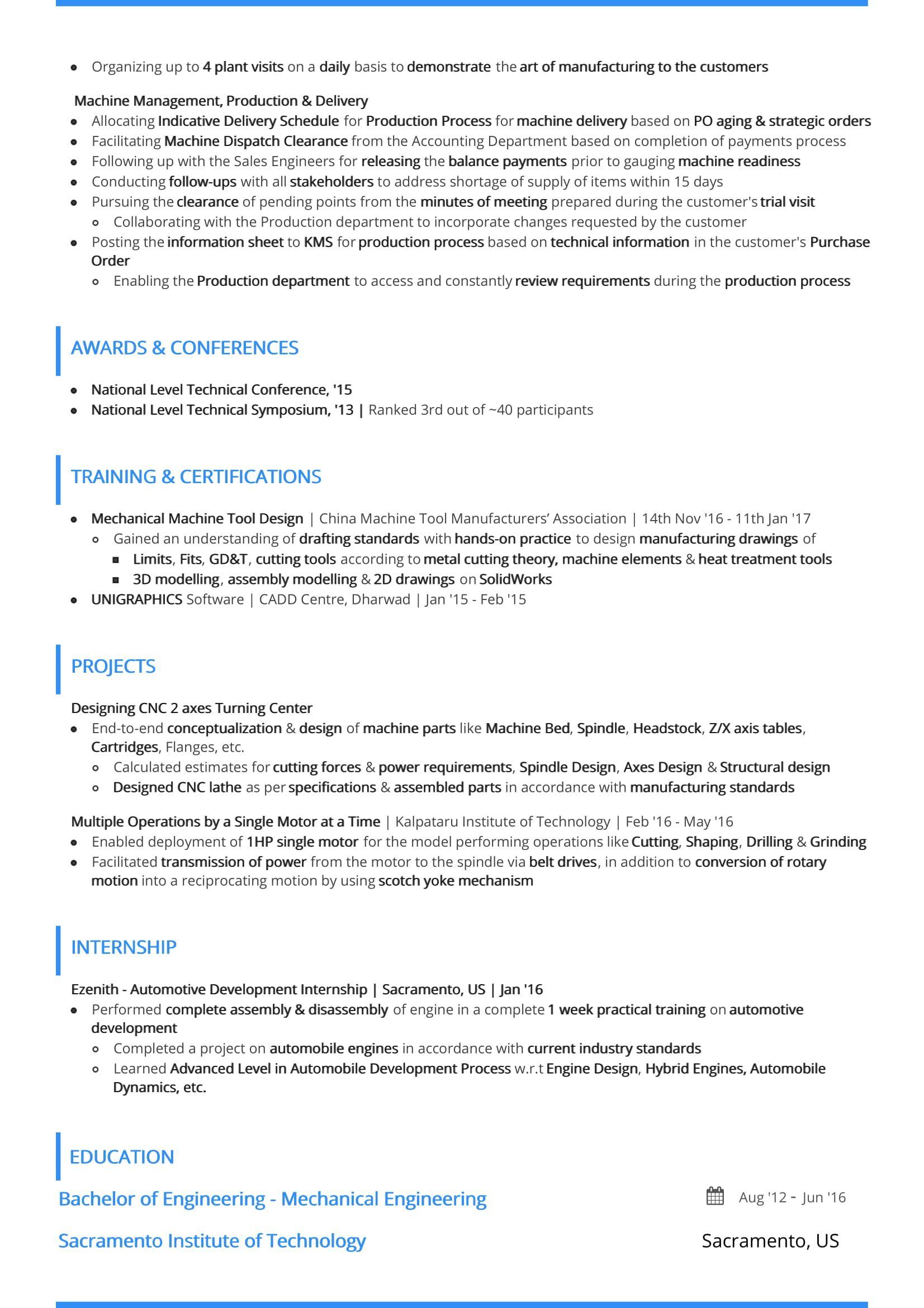 junior professional resume examples