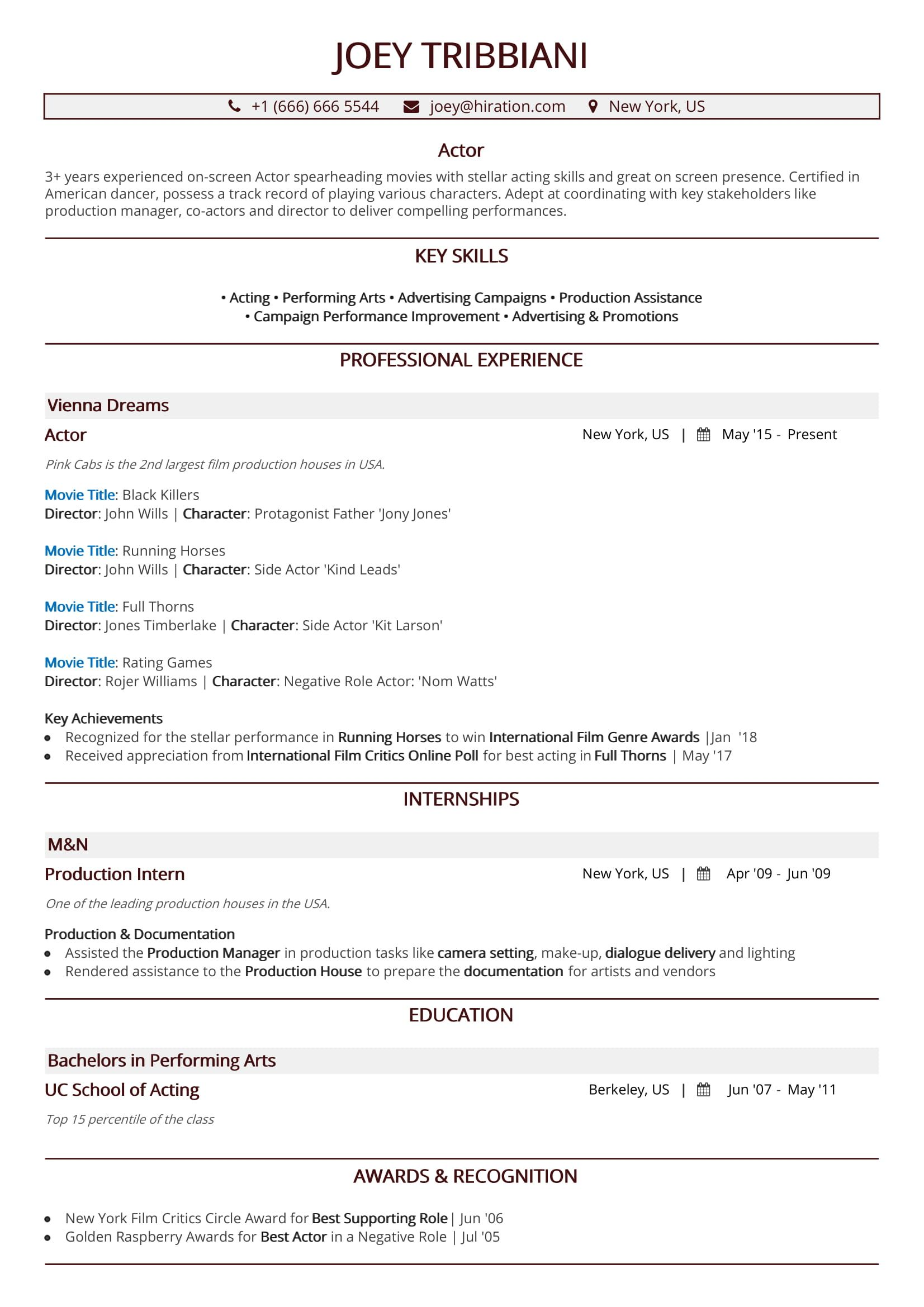 Steps To Make A Resume Acting Resume In 2019 A 10 Step Guide To Actor Resume With Samples