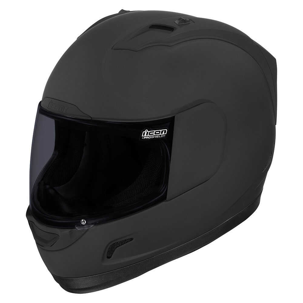 Injection molded polycarbonate shell for strength and durability also dark black helmets icon motosports ride among us rh rideicon