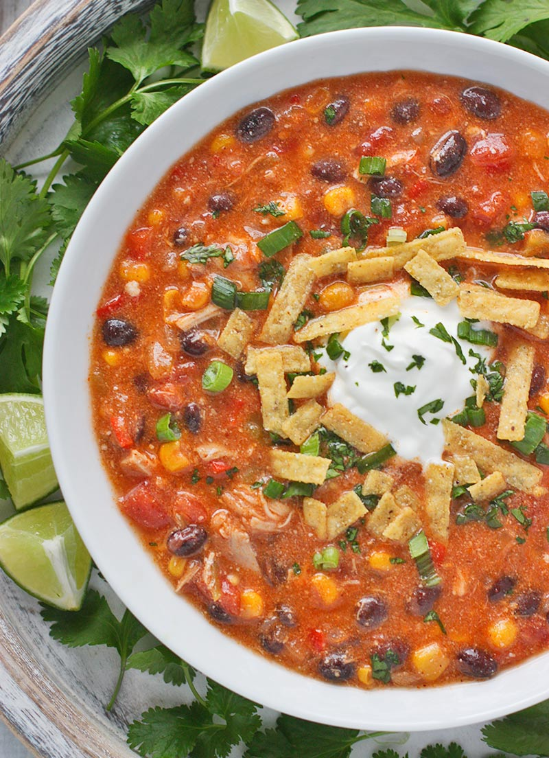 Chicken Enchilada Soup Soup from SoupAddict.com