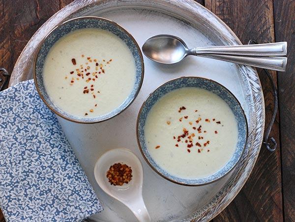 Creamy Cauliflower Soup via SoupAddict.com and the new cookbook, Soup Night