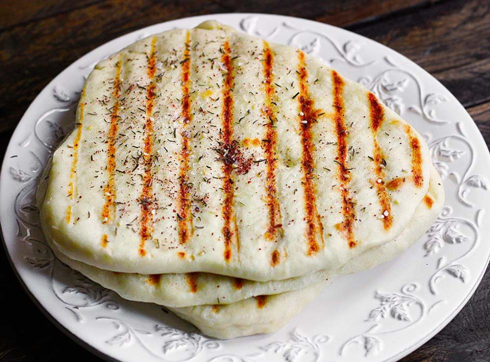 Grilled Flatbread with Za'atar from Soupaddict.com