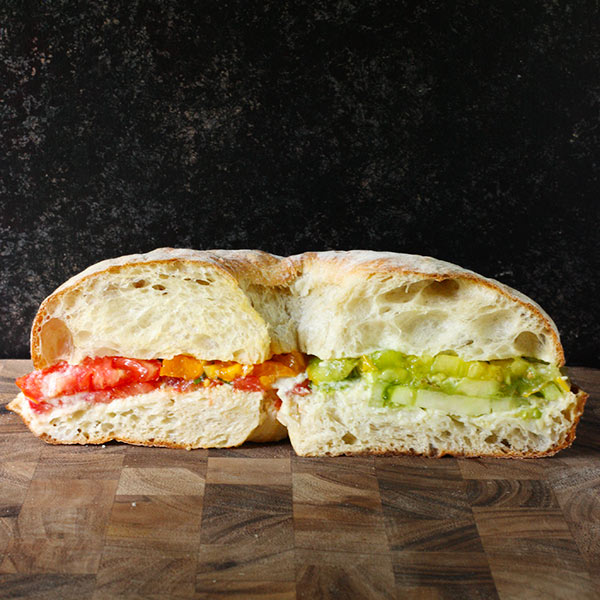 Heirloom Tomato Sandwich with Smoked Corn Mayonnaise from SoupAddict.com
