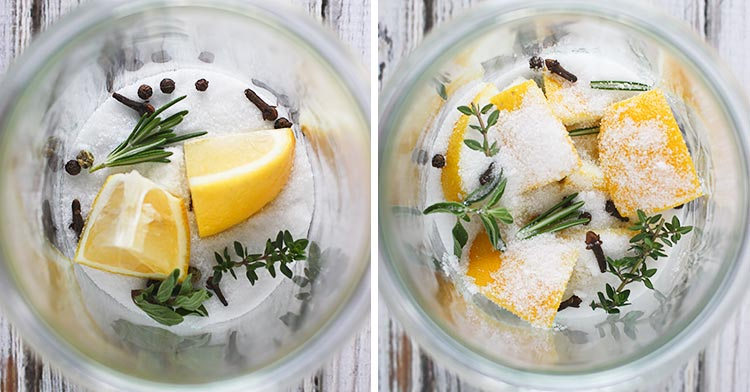 Herb Infused Preserved Lemons from SoupAddict.com