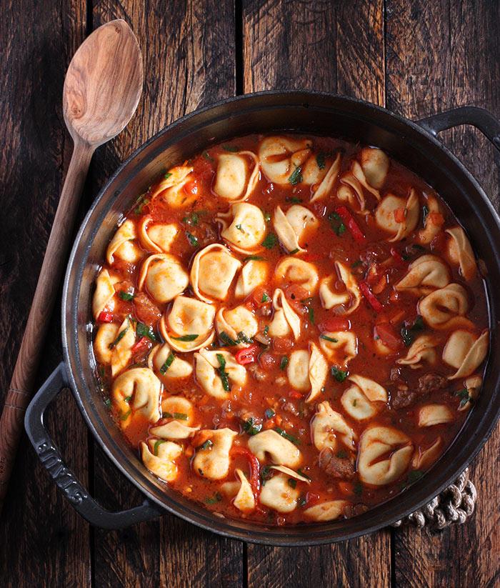 Italian Tortellini Soup with Sausage | SoupAddict.com