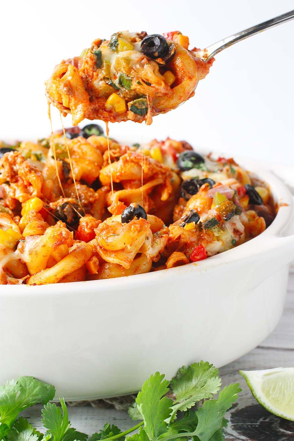 Mexican Pasta Bake from SoupAddict.com