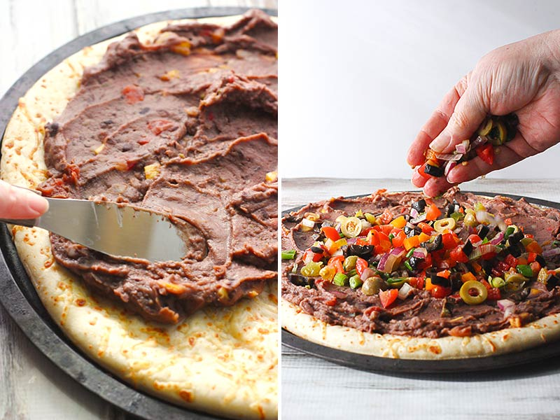 Vegetarian Mexican Pizza from SoupAddict.com