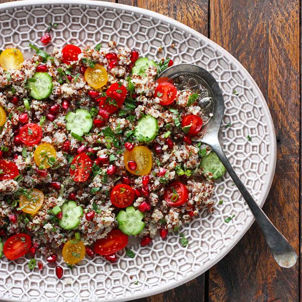 Quinoa Tomato Pomegranate Salad from SoupAddict.com