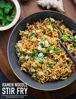 Ramen Noodle Stir Fry from SoupAddict.com